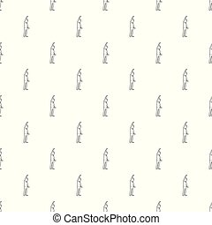 Woman protest on the street pattern vector seamless