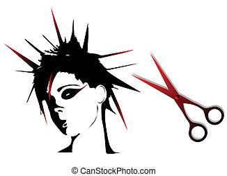 Woman punk hairstyles