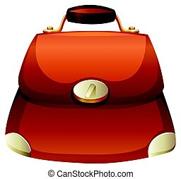 Woman purse in brown color illustration