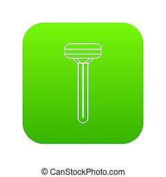 Woman razor icon green