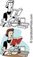 Woman Reading Recipe