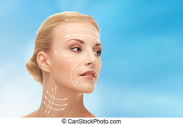 woman ready for cosmetic surgery - health, beauty, medicine...
