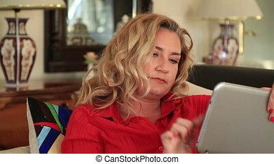 Woman receiving a bad news