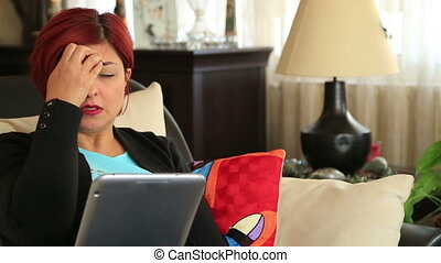 Woman receiving bad news - Middle Ages Victim Of Online...