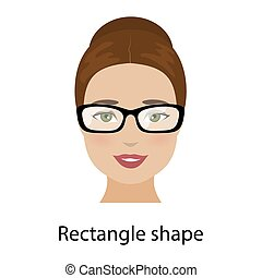 Woman rectangle face shape
