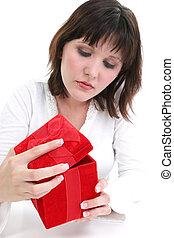 Woman Red Velvet Box