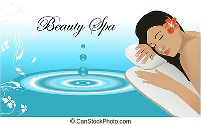 Woman relaxing on a spa