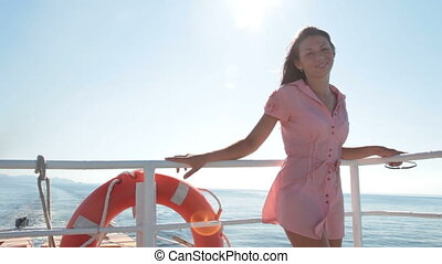 woman relaxing on the deck