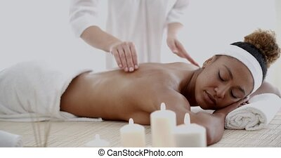 Woman Relaxing With Hand Massage
