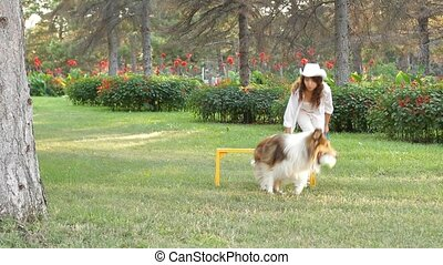 Woman Relaxing With Her Dog