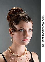 Woman retro revival portrait
