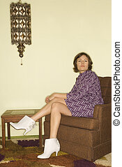 woman., retro