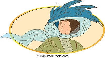 Woman - retro style