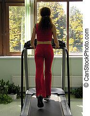 woman run in health