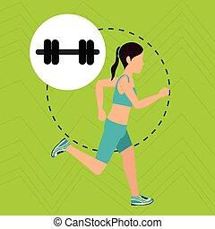 woman run sport health