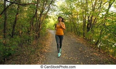 Woman Runing at Park