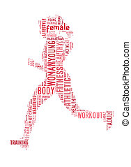 woman running info-text graphic