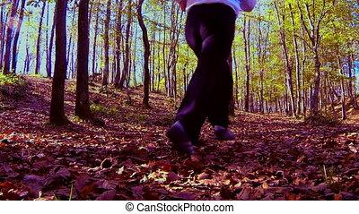woman running slow motion