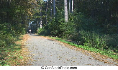 woman running towards camera