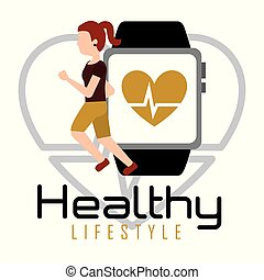 woman running with smartphone heart rate healthy lifestyle