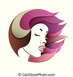 Woman s face, portrait.