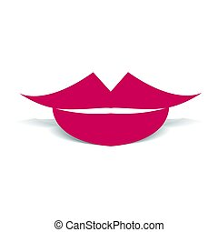 Woman s lips flat style icon. Vector illustration