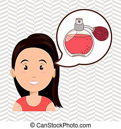 woman salon fragrance vector illustration icon eps 10