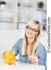 Woman savings