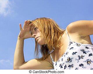 woman searching