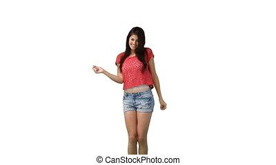 Woman sensually dancing