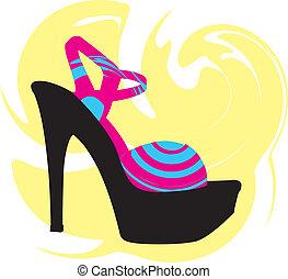 Woman Shoe, Vector illustration