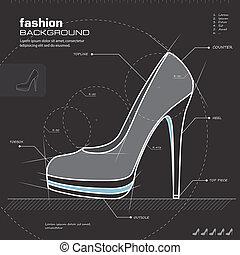 Woman shoes design. Vector.