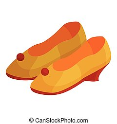 Woman shoes icon, cartoon style