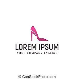 Woman Shoes logo design concept template