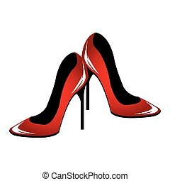 woman shoes pop art