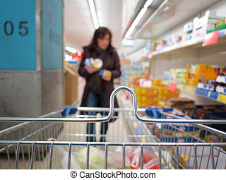 Woman shopping at the supermarket