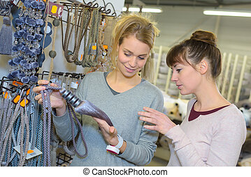 woman shopping in hardware store