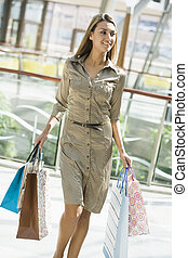 Woman shopping in mall