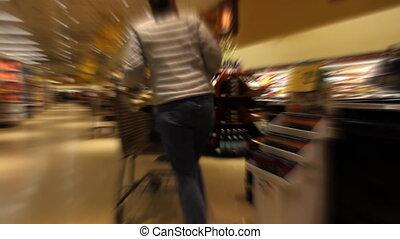 Woman Shopping Time Lapse