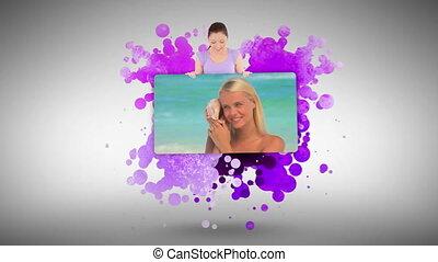 Woman showing a woman having fun