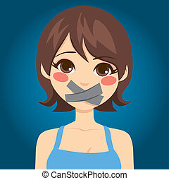 Woman Silenced Mouth