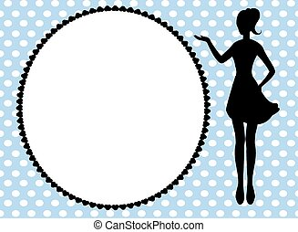 woman silhouette and frame