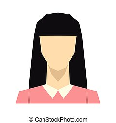 Woman silhouette avatar on white background