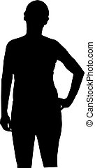 woman silhouette black on white background vector