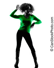 woman silhouette isolated Dancing