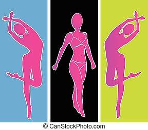 Woman silhouette portrait logo