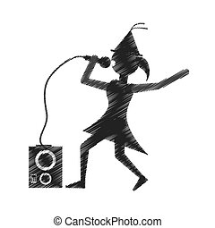 woman singing party icon image