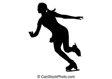 woman skater ice dancing