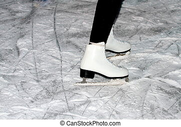 Woman skater on the ice