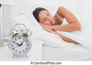 Woman sleeping in